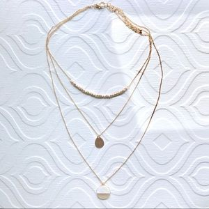 Jewelry - Golden Hour Mother of Pearl Layered Necklace